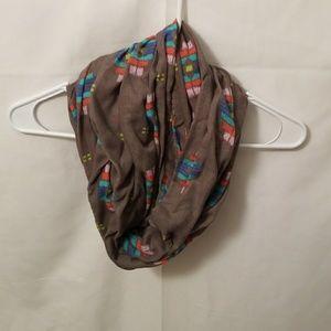Aztec print infinity scarf